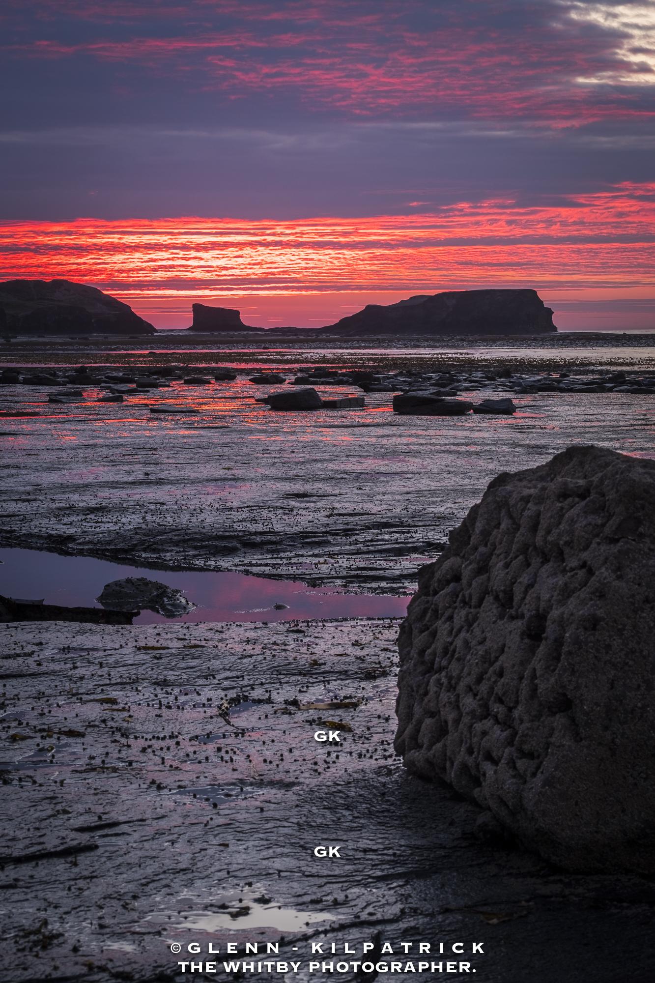 Saltwick Nab Sunset From Next To Admiral Von Tromp