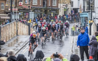 Tour De Yorkshire 2019 - Ladies Race Passing Over Whitby Swing bridge.