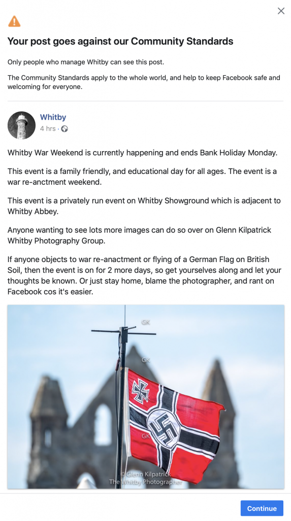 Another Facebook Ban For Glenn Kilpatrick - The Whitby Photographer