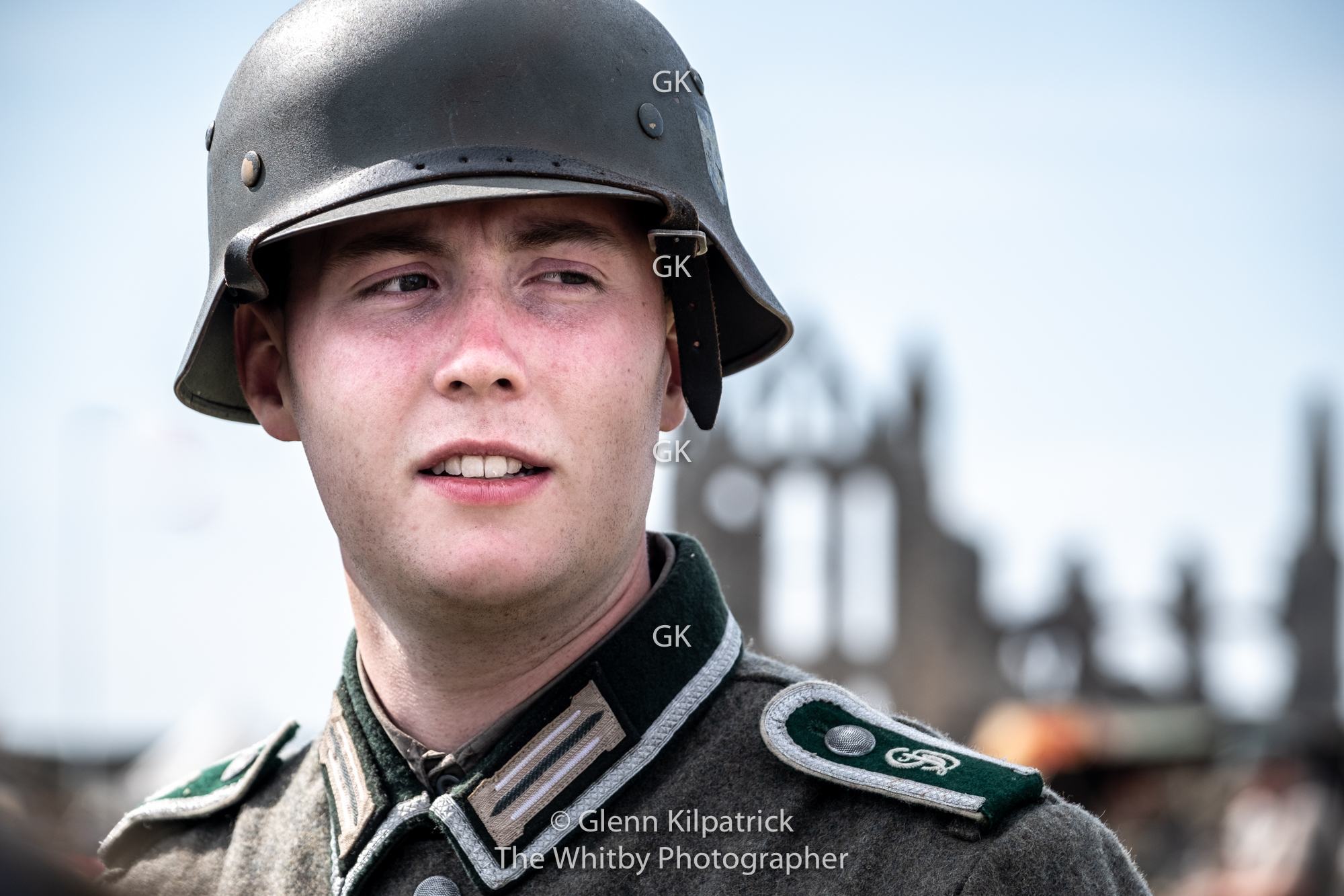 German Soldier At Whitby War Weekend 2019