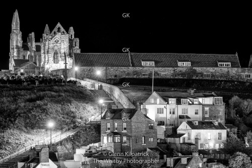 Whitby Abbey In Black And White