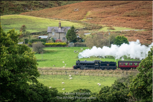 North Yorkshire Moors Railway - Steam Train At Crossgates