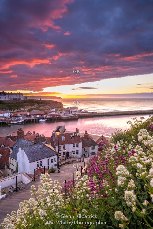 Whitby 199 Steps Sunset. May 14th 2020