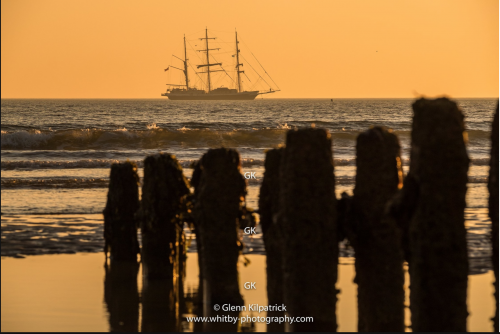The Lord Nelson Sialing Ship At Anchor Off Sandsend