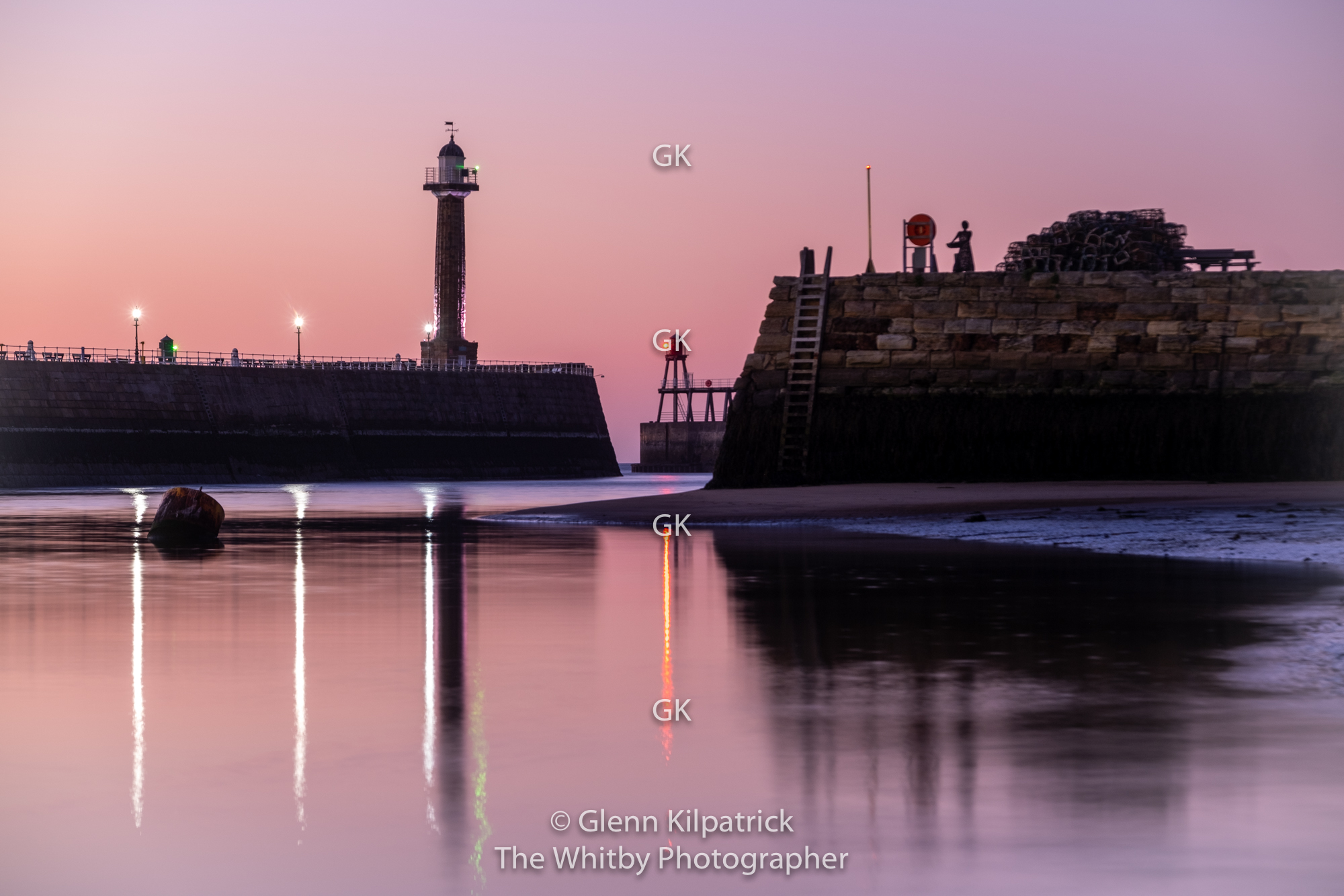 Whitby Harbour At Twilight Tate Hill Fishergirl