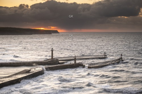 Whitby Sunset - Winter returns - May 10th 2020