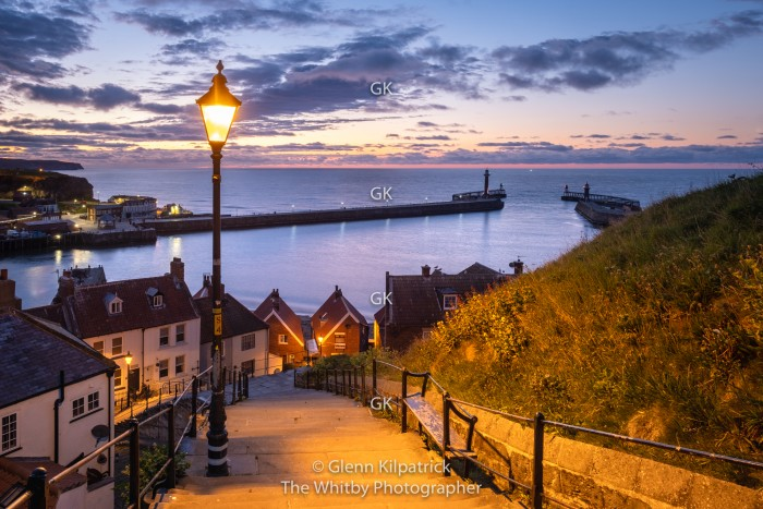Whitby 199 Steps At Twilight - Lockdown 2020