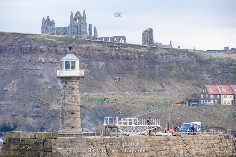 Whitby East Pier Bridge - Almost There !!