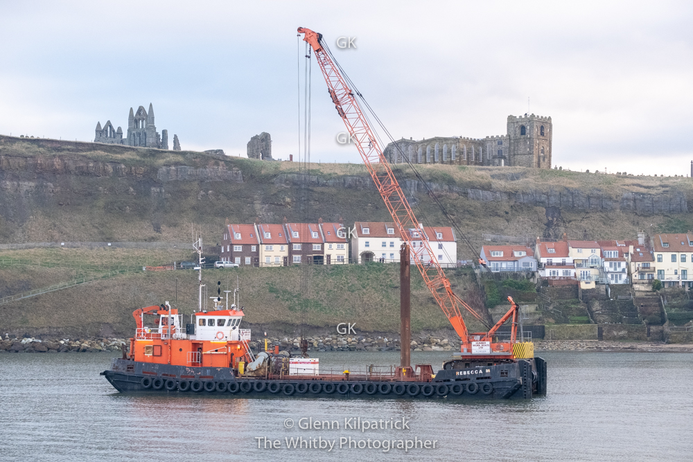 Rebecca M, Crane, Barge, Boat Thingy.