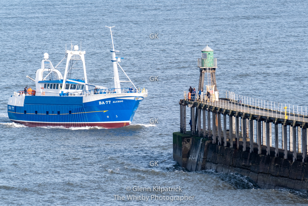 All Our Images Are Available To Purchase As High Resolution prints And Canvases BA 77 Alcedo Parkol Built Scalloper Arrives At Whitby