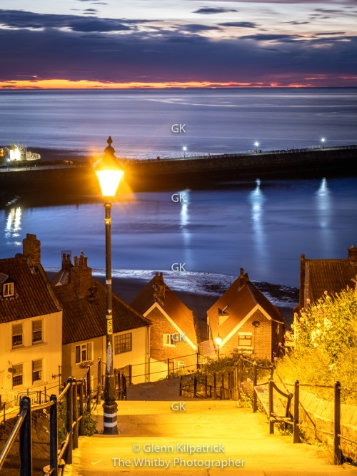 Whitby 199 Steps At Twilight. 16 by 12 Inch Canvas Offer