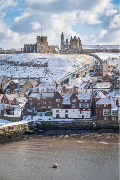 Whitby In The Snow From West Cliff
