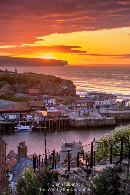 Whitby Sunset At 199 Steps