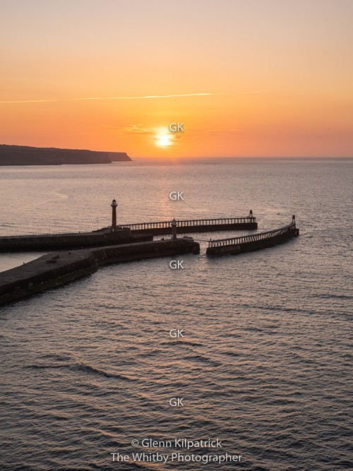 Whitby Sunset Into The Sea