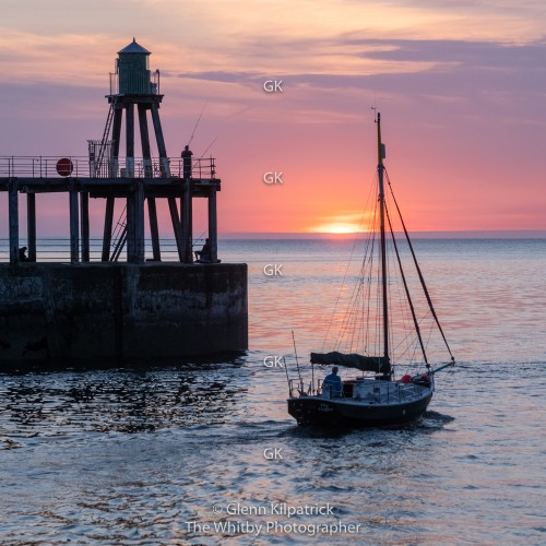 Whitby Yacht Sales Out At Sunset