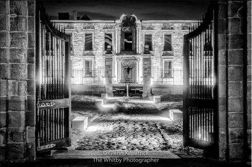 Whitby Abbey House - Abbey Visitor Centre Black And White
